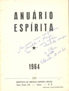 Anuário Espírita - dedicatoria