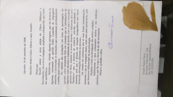 CARTA DIVALDO datada pelo correio II