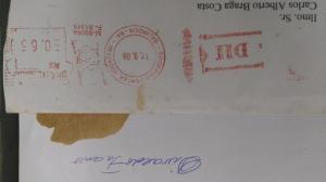 CARTA DIVALDO - Datada pelo correio